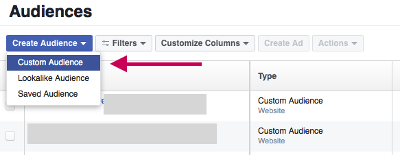 Create Custom Facebook Audiences